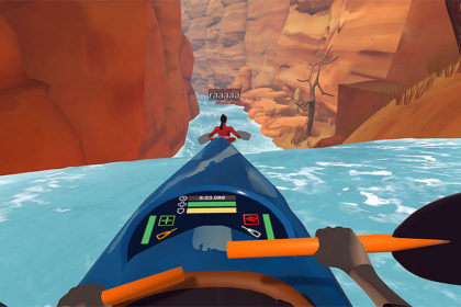 DOWNSTREAM VR Whitewater Kayaking is so much fun ! (Sandy Shores)