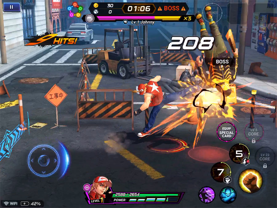 KOF ALLSTAR :  Amazing graphics and easy-to-learn touch controls
