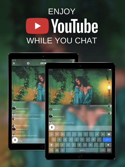 Enjoy Youtube while you chat