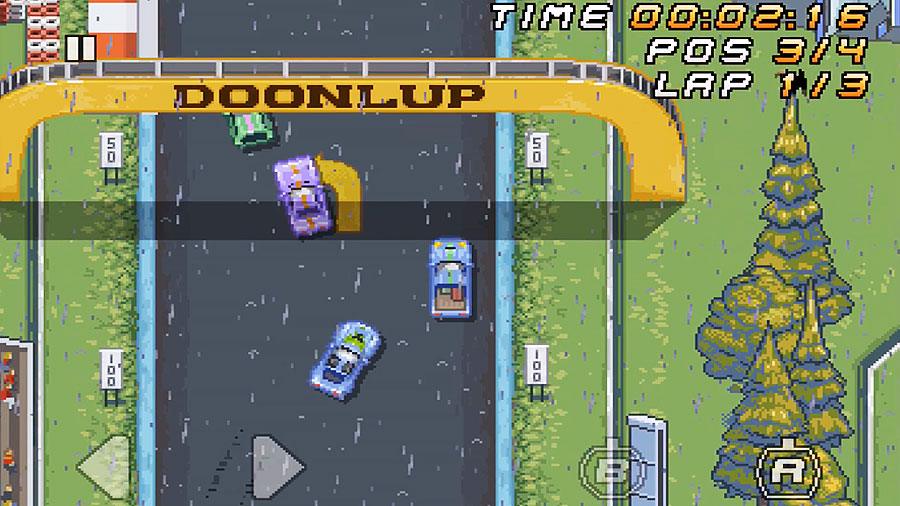 SUPER ARCADE RACING : Fun Retro Racing Game - iphone