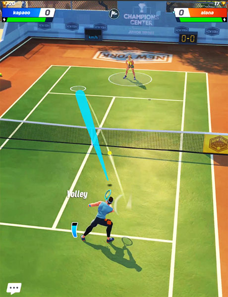 Tennis Clash is a great multiplayer tennis on the iphone with intuitive controls