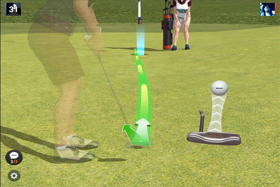Golf King World Tour : Putting for an eagle !  (iphone)