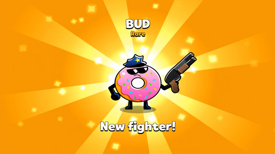 I am getting a new fighter ! Bud the Donut.